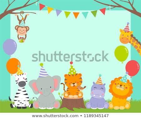 虎 パーティ テンプレート 実例 幸せ 背景 ストックフォト © bluering