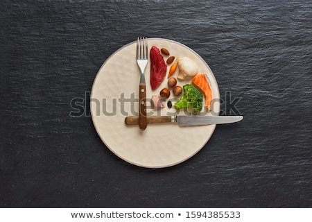 Böjt kalória diéta szimbólum táplálkozás promótál Stock fotó © Lightsource