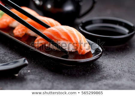 Japanese food, sushi with eel  Stock photo © OleksandrO