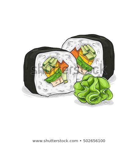 Vector sushi color boceto Boston rodar Foto stock © netkov1