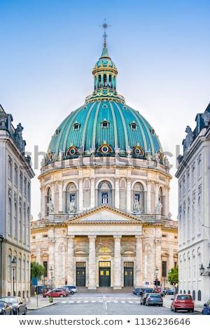 Templom Koppenhága márvány építészet evangélikus Dánia Stock fotó © borisb17