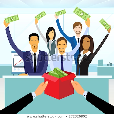Crowdfunding Project Hands Giving Money on Startup Stock photo © robuart