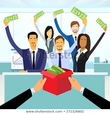 Project handen geld startup nieuwe Stockfoto © robuart