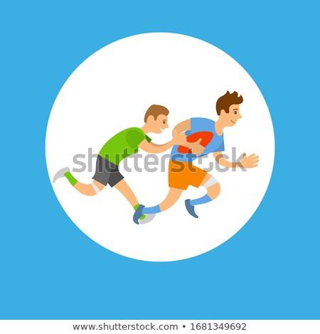 Rugby liga jogo de futebol quadro botão jogador Foto stock © robuart