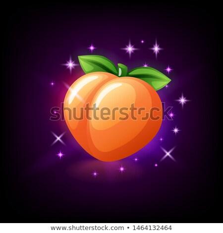 melocotón · todo · frutas · aislado · amor · sexy - foto stock © marysan