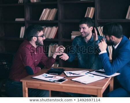 изображение Бизнес-партнеры планирования работу Сток-фото © Freedomz