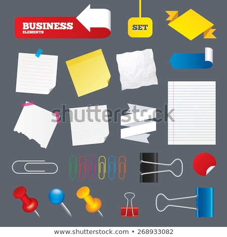 office papers and documents with pin set vector stock photo © robuart