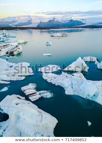 icebergs in arctic landscape nature with travel tourists in greenland stock photo © maridav