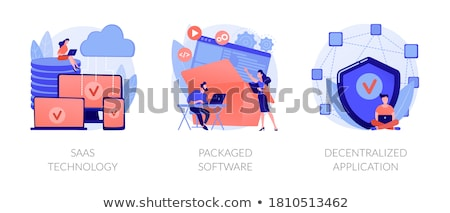 Software pacchetto illustrazione 3d isolato bianco carta Foto d'archivio © montego