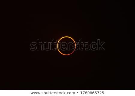 Eclipse sol ilustración como solar vista Foto stock © ssuaphoto