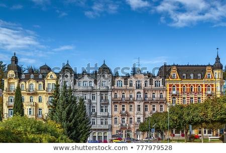 Czechy ulicy miasta centrum domu zielone Zdjęcia stock © borisb17