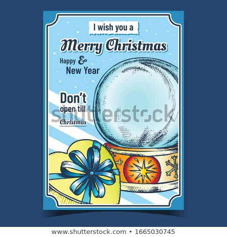 Empty Snowglobe Christmas Souvenir Vintage Color Vector Stock photo © pikepicture