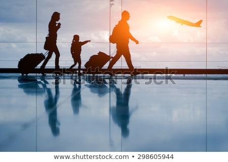 Family at Airport, Flight and Departure, Baggage Stock photo © robuart
