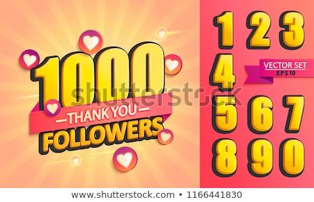 500 teşekkür ederim sosyal medya iş kalp arka plan Stok fotoğraf © SArts
