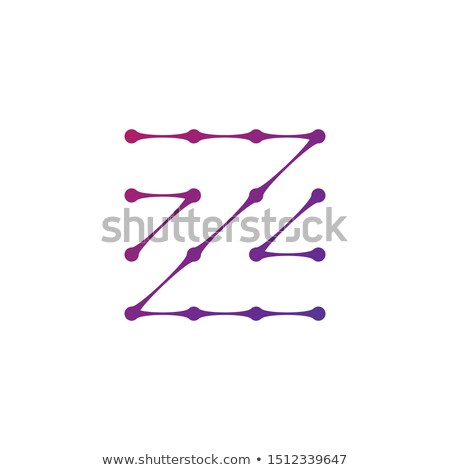 Letter Z Logo consisted of dots and lines, molecular structure. Stock Vector illustration isolated o Stock photo © kyryloff