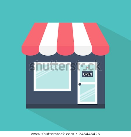Mobiele store icon vector geïsoleerd witte Stockfoto © smoki