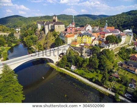Zamek wieża Czechy rynku historyczny centrum Zdjęcia stock © borisb17