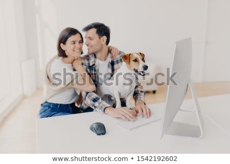 Afectuos cuplu dragoste imbratisa sărut ceas Imagine de stoc © vkstudio