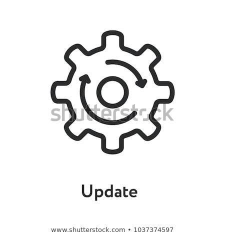 Aktualizacja ikona wektora długo cień internetowych Zdjęcia stock © smoki