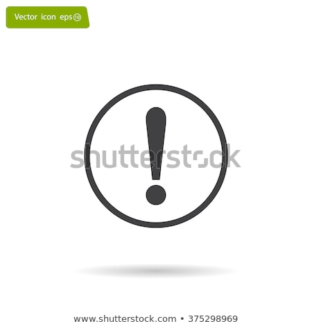 Warning attention sign with exclamation mark symbol in circle. Yellow round web button. Stock Vector Stock photo © kyryloff