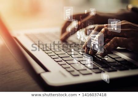 Fogyasztó szöveg modern laptop képernyő iroda Stock fotó © Mazirama
