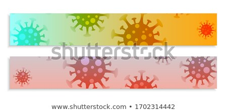 コロナウイルス 感染 広い バナー セット ベクトル ストックフォト © SArts