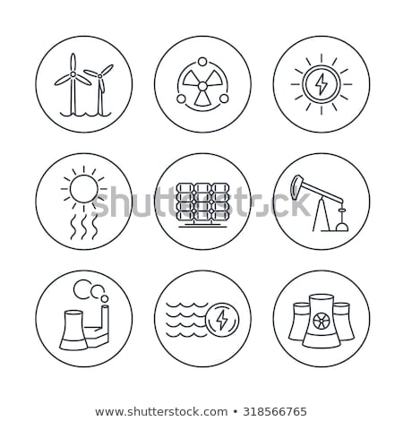 thermal station with plants icon vector outline illustration Stock photo © pikepicture