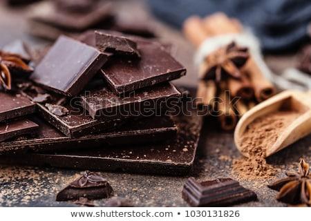 Koyu çikolata bar parçalar tatlı gıda fotoğraf Stok fotoğraf © marylooo