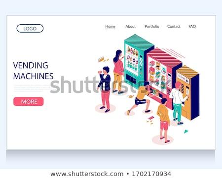 Automaat dienst landing pagina consument dollar Stockfoto © RAStudio