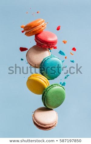 Macaron Cookies различный цветами Vintage лоток Сток-фото © grafvision