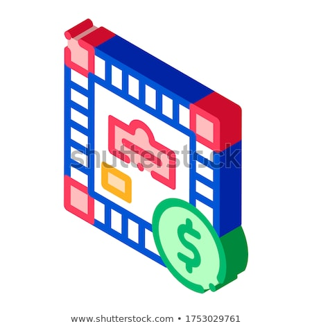 интерактивный дети игры монополия изометрический икона Сток-фото © pikepicture