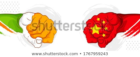 India vs China concept showing tension and confrontation in borders Stock photo © vectomart