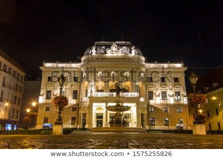 Oude theater gebouw Bratislava Slowakije oude binnenstad Stockfoto © borisb17