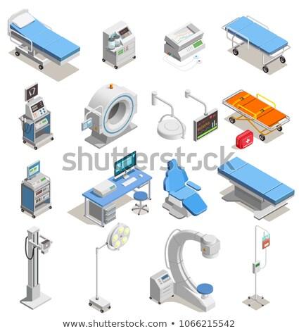 Mri uitrusting isometrische icon vector teken Stockfoto © pikepicture