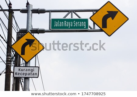 Jakarta Road Sign Stock photo © kbuntu
