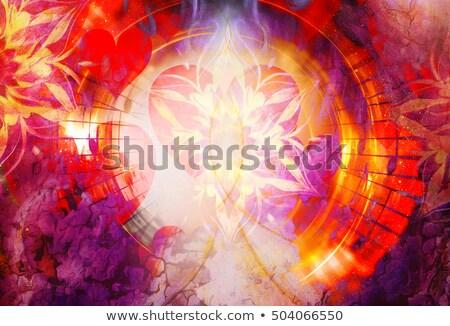 Star collage abstract illustratie stralen hemel Stockfoto © antkevyv