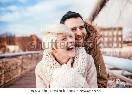 Puente peatonal retrato vida jóvenes blanco Foto stock © Paha_L