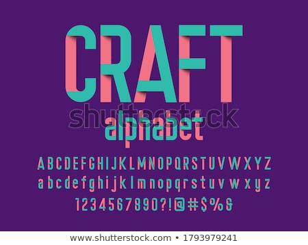 Origami stil alfabe sayılar sevmek kalp Stok fotoğraf © TheModernCanvas