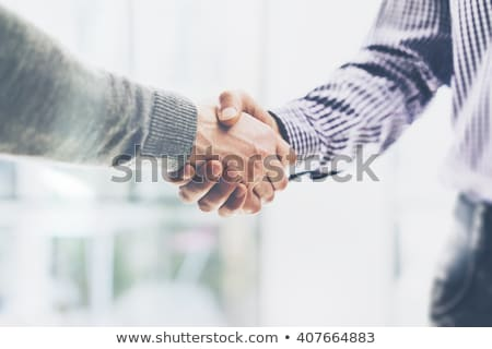 handdruk · groet · man · handen · schudden · vergadering · deal - stockfoto © adamr