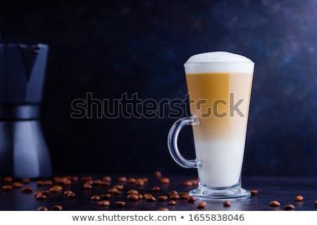 glass of latte macchiato Stock photo © prill