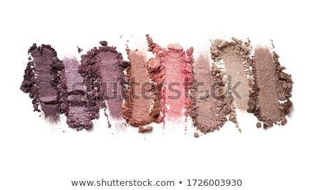 oogschaduw · geïsoleerd · witte · gezicht · ogen · vrouwelijke - stockfoto © lalito