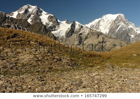 alpes · Italie · ville · vallée · hiver · ciel - photo stock © claudiodivizia