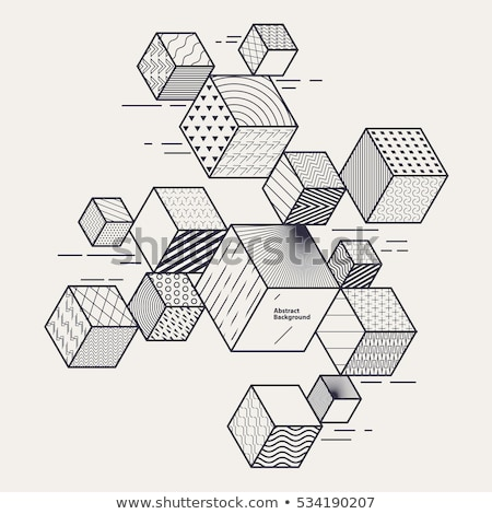Design from cubes Stock photo © Ciklamen