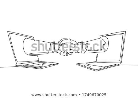 lápiz · cepillo · azul · pintura · papel · arte - foto stock © romvo
