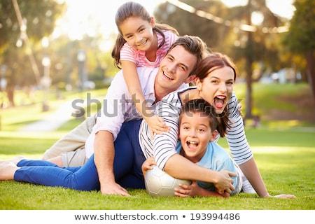 matka · syn · trawy · miłości · krajobraz · ogród - zdjęcia stock © photography33