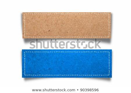 Blue paper seam Stock photo © deyangeorgiev