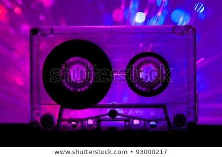 şeffaf kaset bant disko ışık mavi Stok fotoğraf © deyangeorgiev