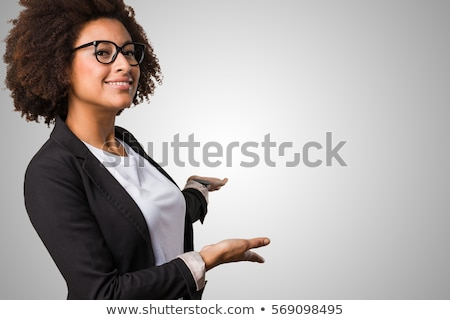 business woman showing welcoming stock photo © maridav