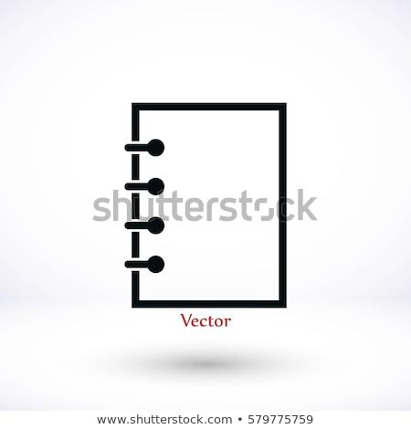 abstract notepad icon stock photo © pathakdesigner