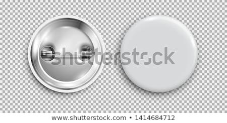 bezoeker · badge · geïsoleerd · Blauw · business - stockfoto © naumoid